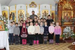 ЯГОТИН. Першокласники на масляну відвідали Покровський храм